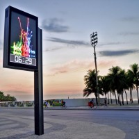 Clearchanel Prismatronic led bilboard