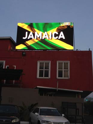 P20 jamaica sign