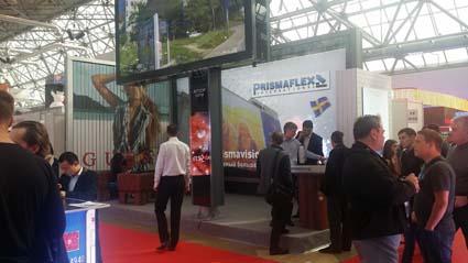 Stand Prismaflex in Reklama