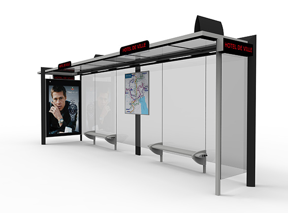 Street furniture bus shelters
