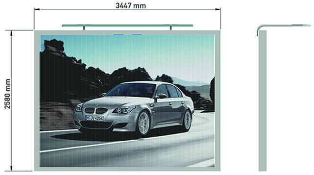 Prismenwender 8m² Wandversion mit Lichtleiste