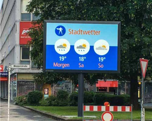 meteo digital screen