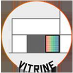 digital banner en vitrine