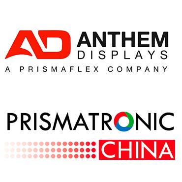 Anthem Displays and Prismatronic China logos