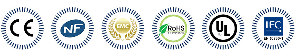 Logos des normes respectées