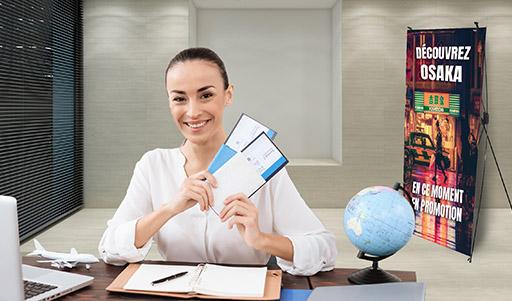 Solutions PRINT PLV pour stand accueil et réception