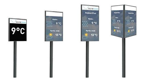 panneaux mobilier urbain digital pour les villes