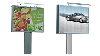 panneaux d'affichage extérieurs