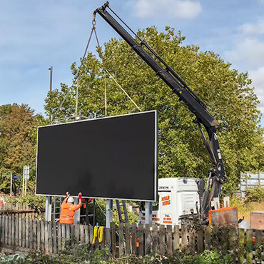 Last led billboard installed in England at Portsmouth