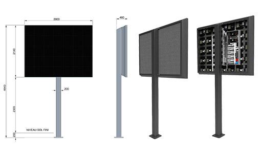 Panneau prismatronic portatif 6m² et 8m²