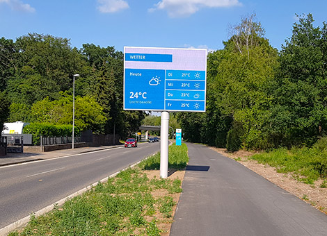 Led billboard installed in Vangehassend