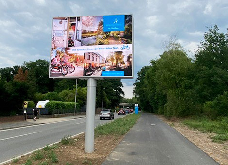 écran led double face installé en Allemagne