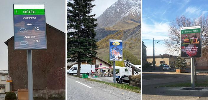 panneaux d'affichage villes