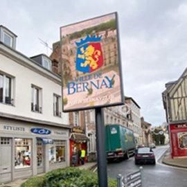 panneau lumineux installé dans la ville de Bernay